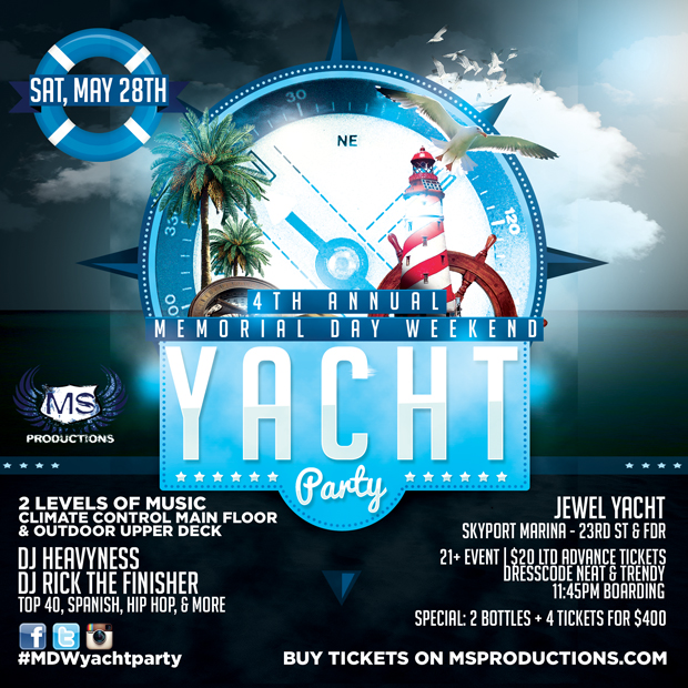 Birthday Party Yacht: 4th Annual Memorial Day Weekend Boat Party